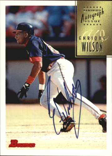 Photo of 1997 Bowman Certified Black Ink Autographs #CA85 Enrique Wilson