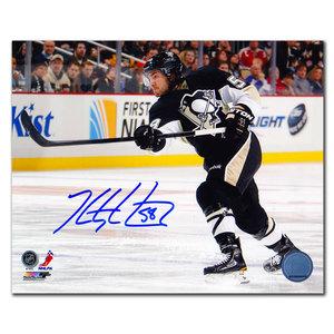 Kris Letang Pittsburgh Penguins Slapshot Autographed 8x10