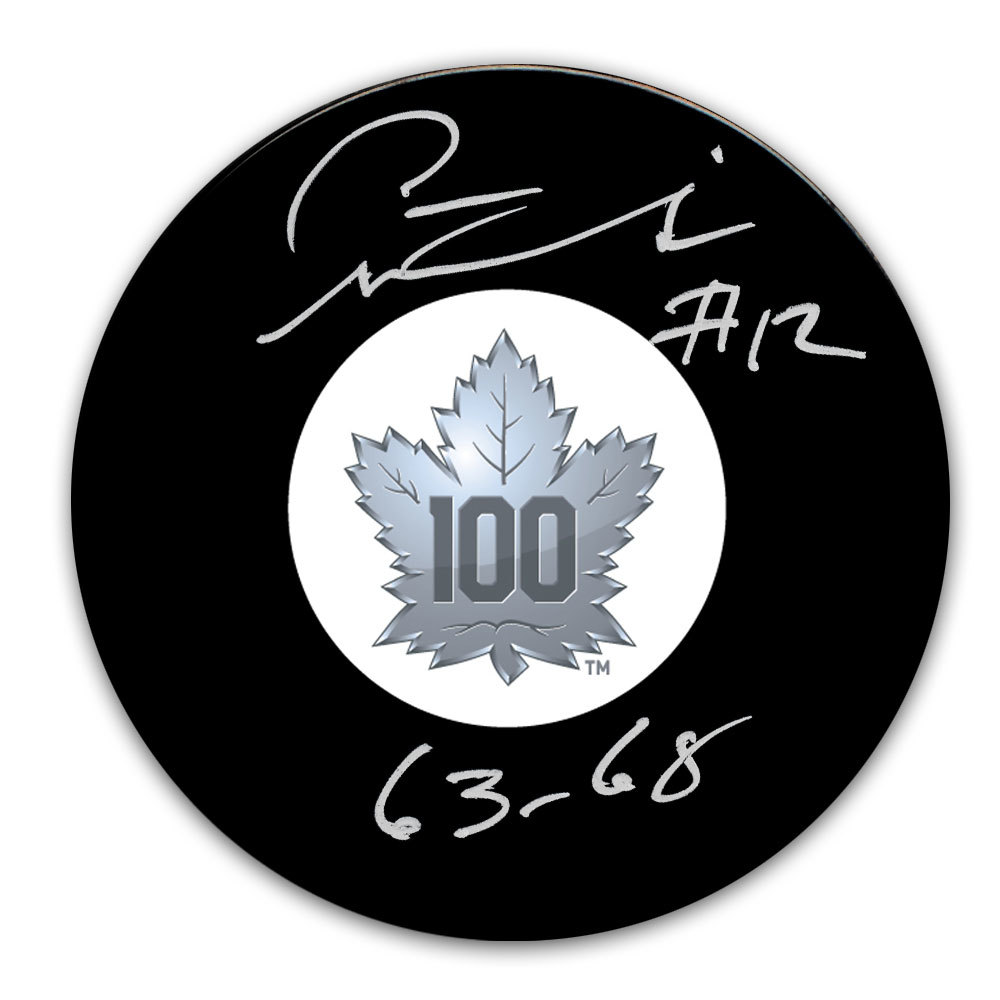 Pete Stemkowski Toronto Maple Leafs 100th Anniversary Autographed Puck