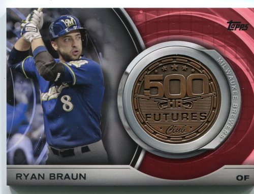 Photo of 2016 Topps Update 500 HR Futures Club Medallions #500M3 Ryan Braun