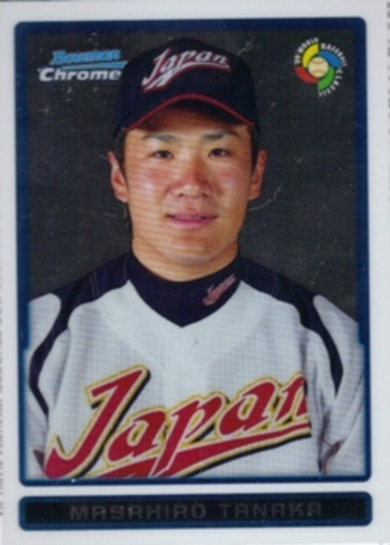 Photo of 2009 Bowman Chrome WBC Prospects #BCW30 Masahiro Tanaka -- Yankees post-season