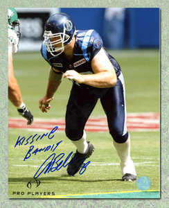 Adriano Belli Toronto Argonauts Autographed Kissing Bandit CFL 8x10 Photo