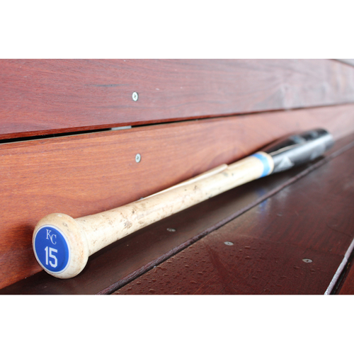 Photo of Game-Used Two Piece Broken Bat: Whit Merrifield (KC at DET - 6/28/17)