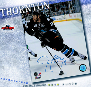 JOE THORNTON Signed San Jose Sharks 8 X 10 Photo - 70352