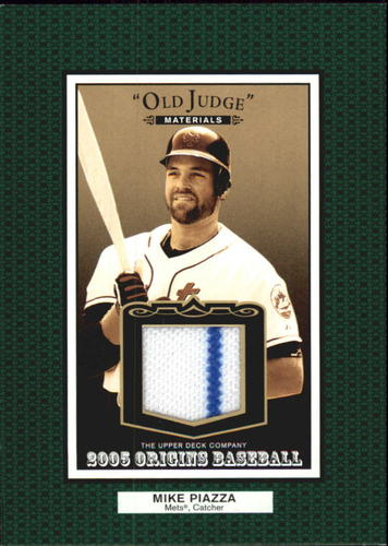 Photo of 2005 Origins Old Judge Materials Jersey #PI Mike Piazza