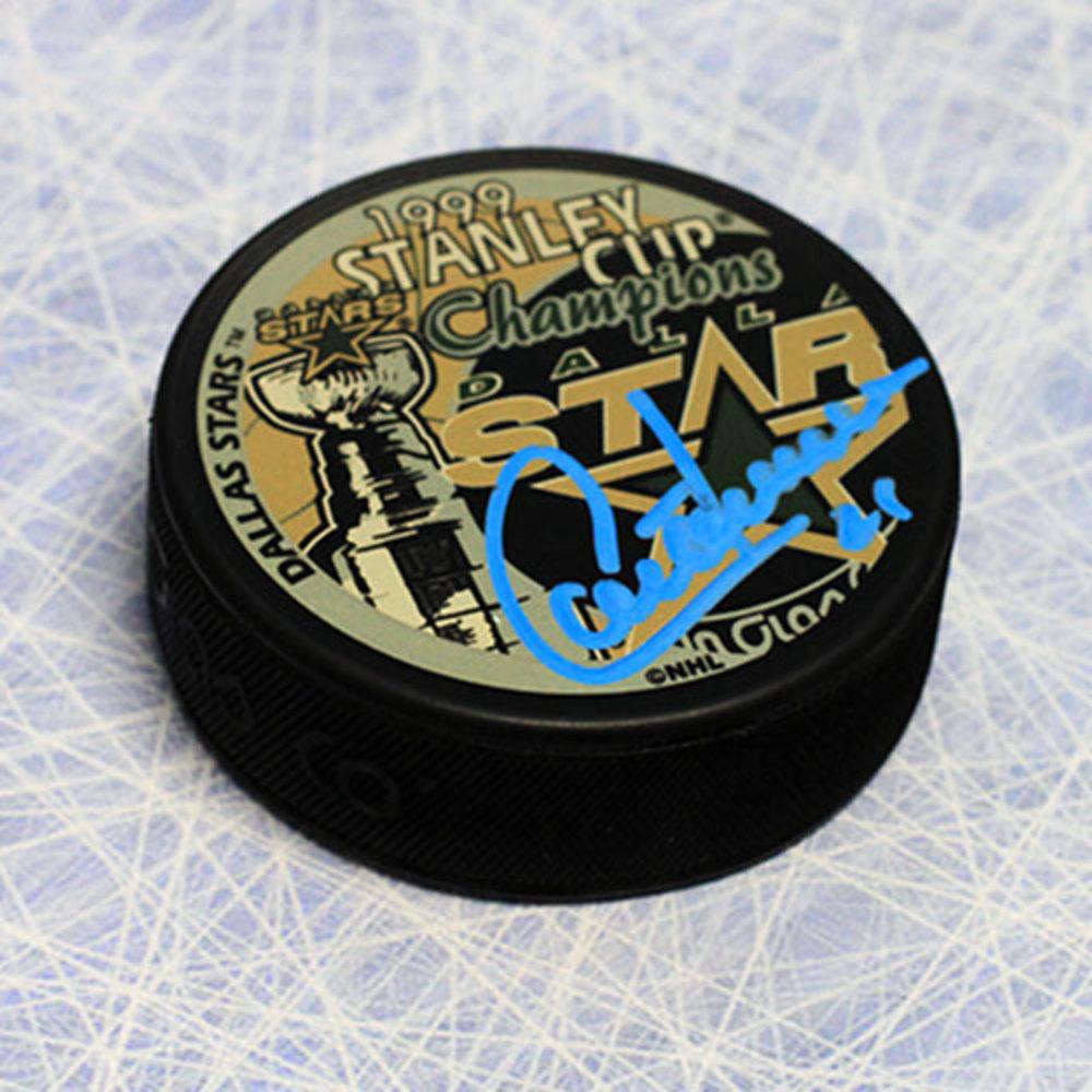 Guy Carbonneau Dallas Stars Autographed 1999 Stanley Cup Puck