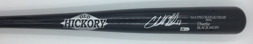 Photo of Charlie Blackmon Autographed Game Model Old Hickory Bat
