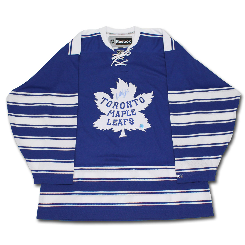 Wendel Clark Toronto Maple Leafs Winter Classic Retro Jersey - Signed On Front