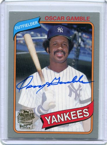 Photo of 2015 Topps Archives Fan Favorites Autographs Silver #FFAOG Oscar Gamble