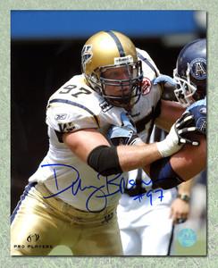 Doug Brown Winnipeg Blue Bombers Autographed CFL 8x10 Photo