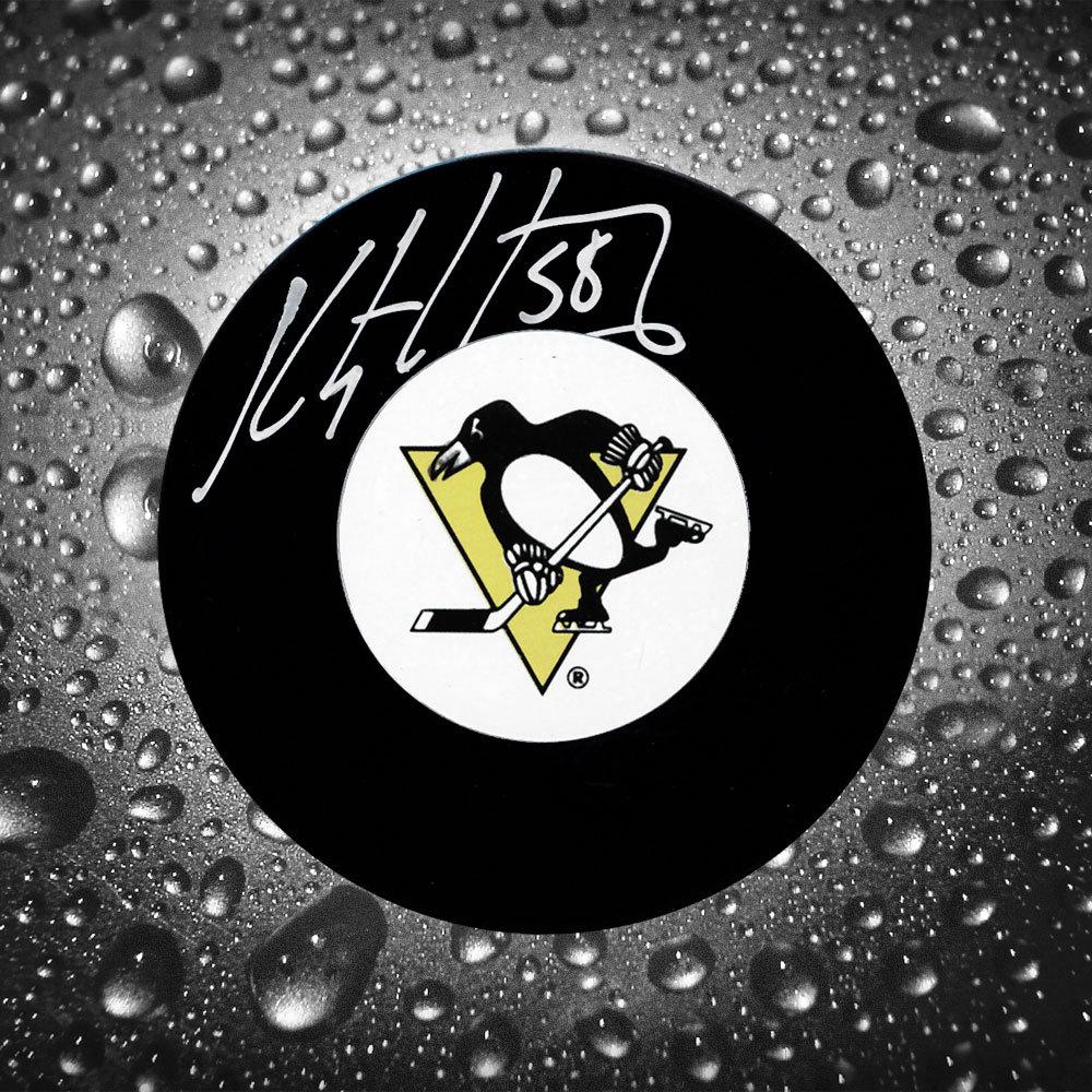 Kris Letang Pittsburgh Penguins Autographed Puck
