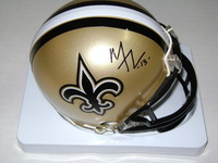 NFL - SAINTS MIKE THOMAS SIGNED SAINTS MINI HELMET