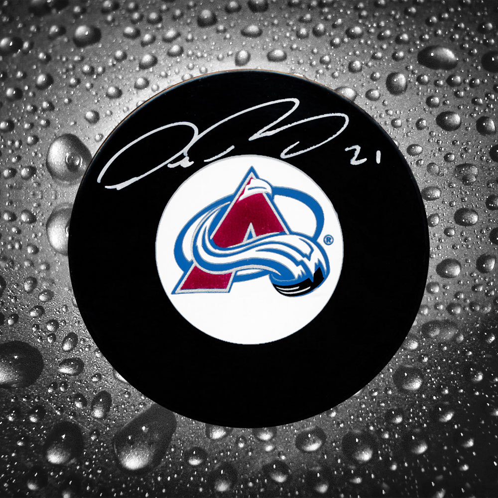 Peter Forsberg Colorado Avalanche Autographed Puck