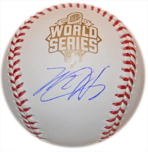 Photo of Matt Harvey - Autographed 2015 World Series Baseball