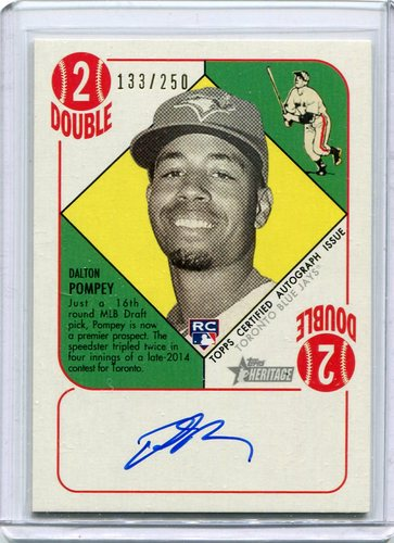 Photo of 2015 Topps Heritage '51 Collection Autographs  Dalton Pompey 133/250