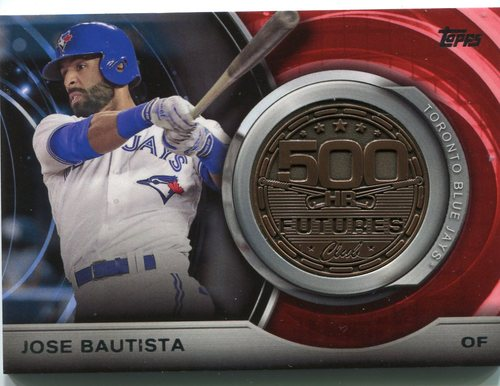 Photo of 2016 Topps Update 500 HR Futures Club Medallions #500M10 Jose Bautista