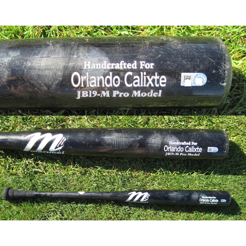 Photo of San Francisco Giants - Team Issued Broken Bat - Spring Training - Orlando Calixte