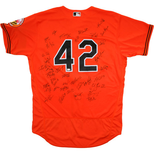 Photo of 2017 Jackie Robinson Day Jersey - Baltimore Orioles Team Autographed Jersey