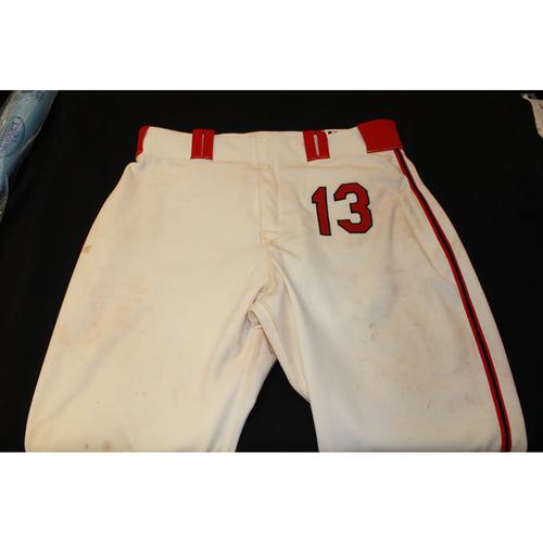 Photo of Salvador Perez Game-Used Kansas City Monarchs Pants (5/7/17) - 40-49-24