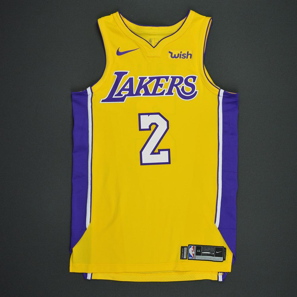 Lonzo Ball - Los Angeles Lakers - Kia NBA Tip-Off 2017 - Game-Worn NBA Debut Jersey - Worn in 3 Games - First NBA Double-Double