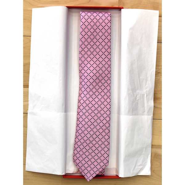 Head Coach Geno Auriemma Game Worn and Autographed Pink Hermes Tie