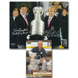 Phil Pritchard & Craig Campbell Autographed 8X10 Photo - Keepers of the Cup w/Autographed Pritchard Upper Deck Card