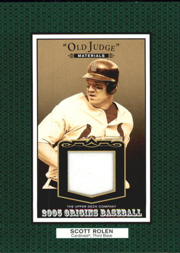 Photo of 2005 Origins Old Judge Materials Jersey #SR Scott Rolen