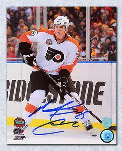 Matt Carle Philadelphia Flyers Autographed 2010 Winter Classic 8x10 Photo