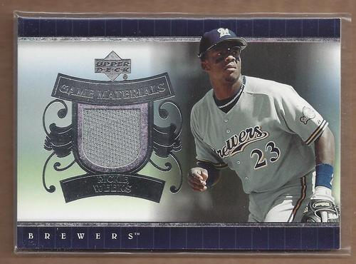 Photo of 2007 Upper Deck UD Game Materials #RW Rickie Weeks Jersey
