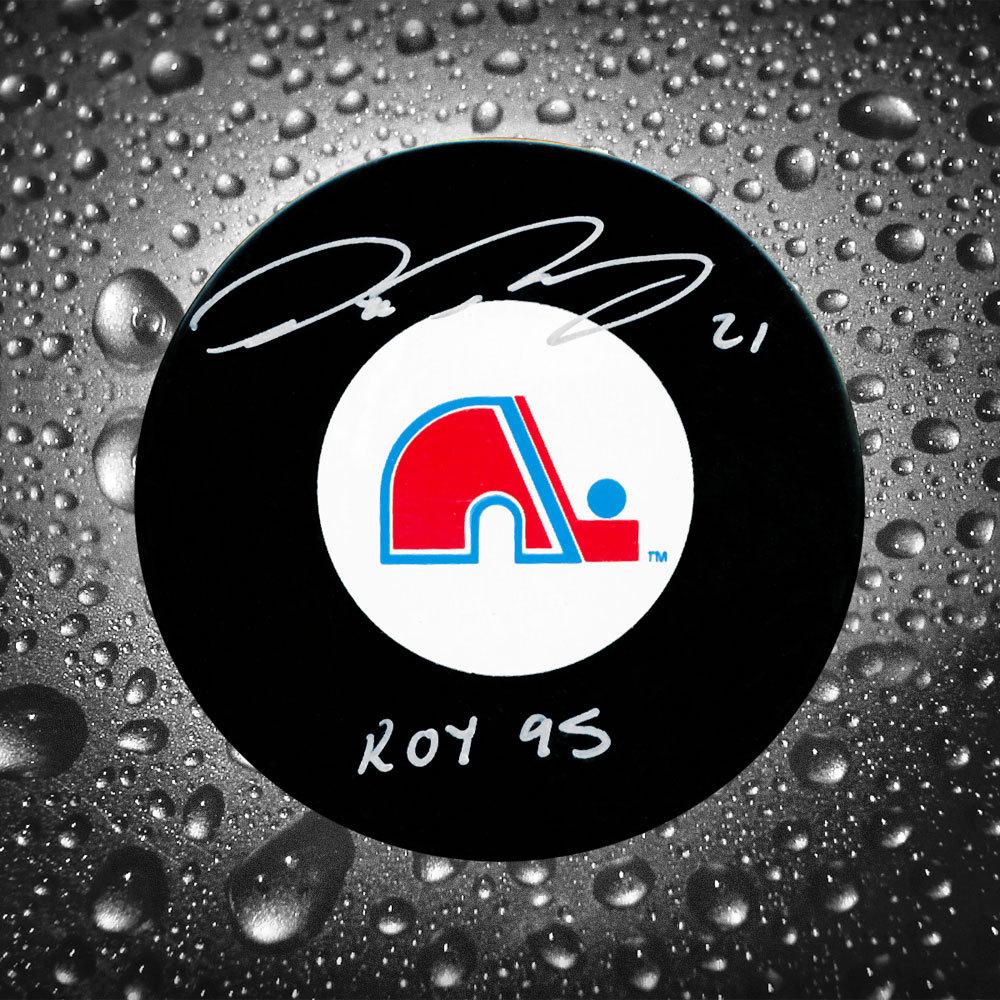 Peter Forsberg Quebec Nordiques Autographed Puck