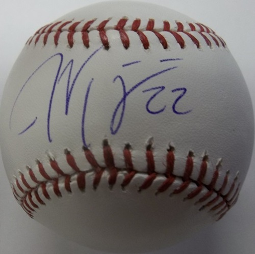 Photo of Jason Kipnis Autographed Baseball