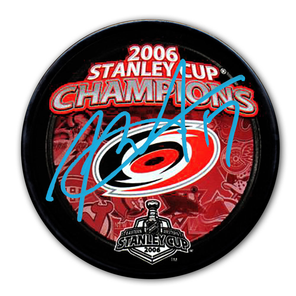 Rod Brind'Amour Carolina Hurricanes 2006 Stanley Cup Champions Autographed Puck