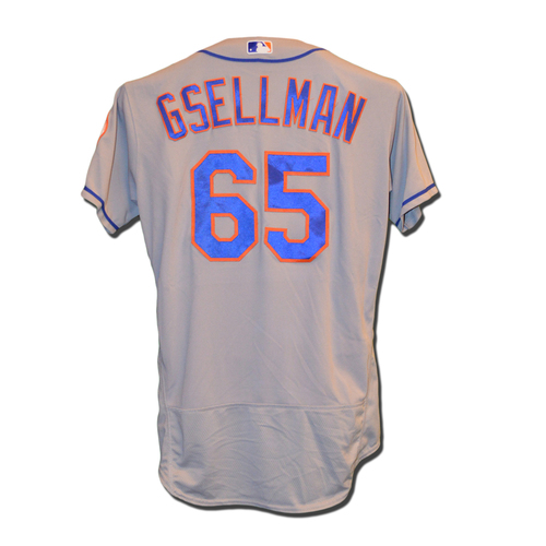 Photo of Robert Gsellman #65 - Team Issued Road Grey Jersey - 2016 Season