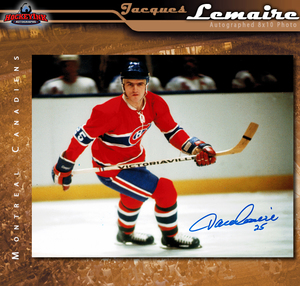 JACQUES LEMAIRE Signed Montreal Canadiens 8 X 10 Photo - 70453