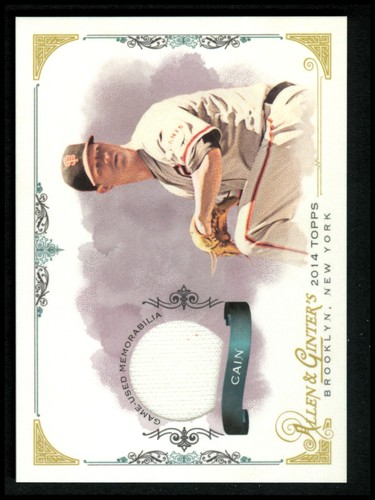 Photo of 2014 Topps Allen and Ginter Relics #FSRMCA Matt Cain A