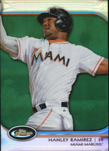 Photo of 2012 Finest Green Refractors #55 Hanley Ramirez