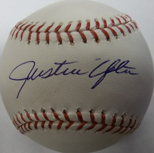 Photo of Justin Upton Autographed Baseball