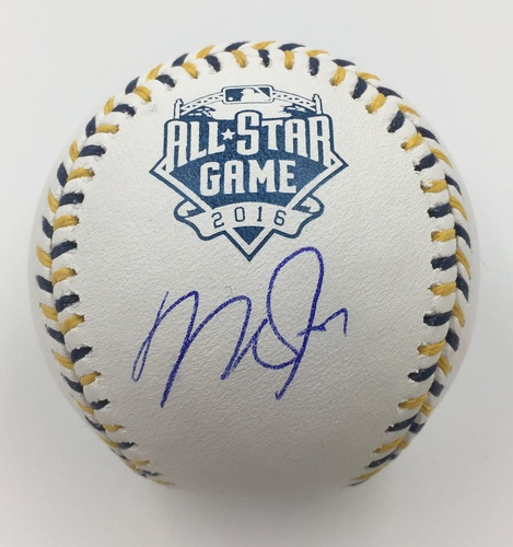 Photo of Mike Trout Autographed 2016 All-Star Game Baseball