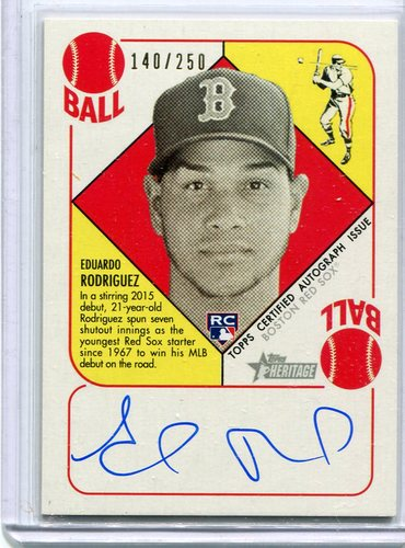 Photo of 2015 Topps Heritage '51 Collection Autographs Eduardo Rodriguez 140/250