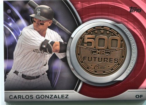 Photo of 2016 Topps Update 500 HR Futures Club Medallions #500M13 Carlos Gonzalez