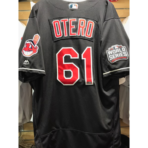 Photo of Dan Otero Game-Used Jersey, 2016 World Series vs. Chicago Cubs - GAME 7