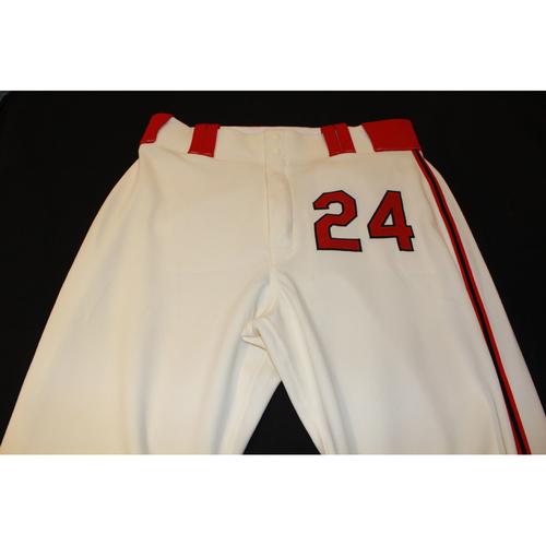 Photo of Christian Colon Game-Used Kansas City Monarchs Pants (5/7/17) - 34-41-36