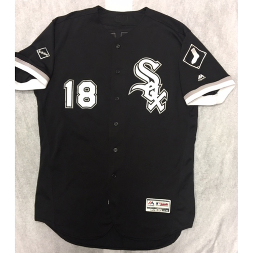 Photo of Tyler Saladino 2016 Game-Used Black Alternate Jersey - Size 48