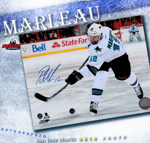PATRICK MARLEAU Signed San Jose Sharks 8 X 10 Photo - 70510