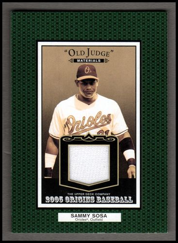 Photo of 2005 Origins Old Judge Materials Jersey #SS Sammy Sosa