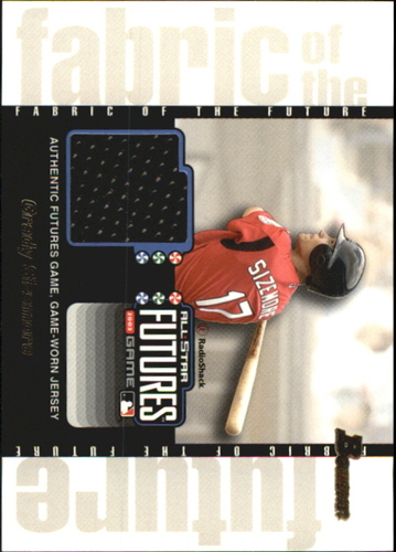Photo of 2003 Bowman Draft Fabric of the Future Jersey Relics #GS Grady Sizemore D