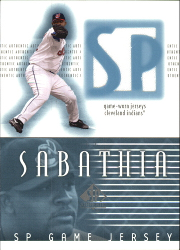 Photo of 2002 SP Authentic Game Jersey #JCC C.C. Sabathia