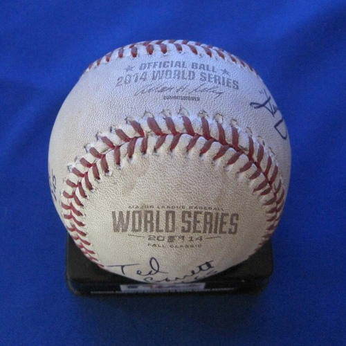 Photo of UMPS CARE AUCTION: 2014 Game-Ready World Series Crew Signed Baseball
