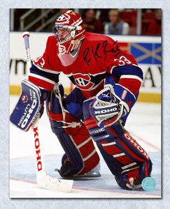 Patrick Roy Montreal Canadiens Autographed Habs Goalie 8x10 Photo