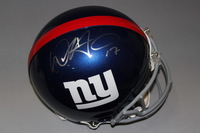 NFL - GIANTS DWAYNE HARRIS SIGNED GIANTS PROLINE HELMET
